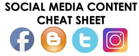 content cheat sheet